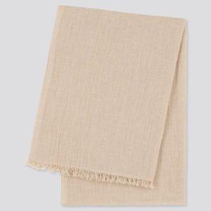 Cotton linen stole